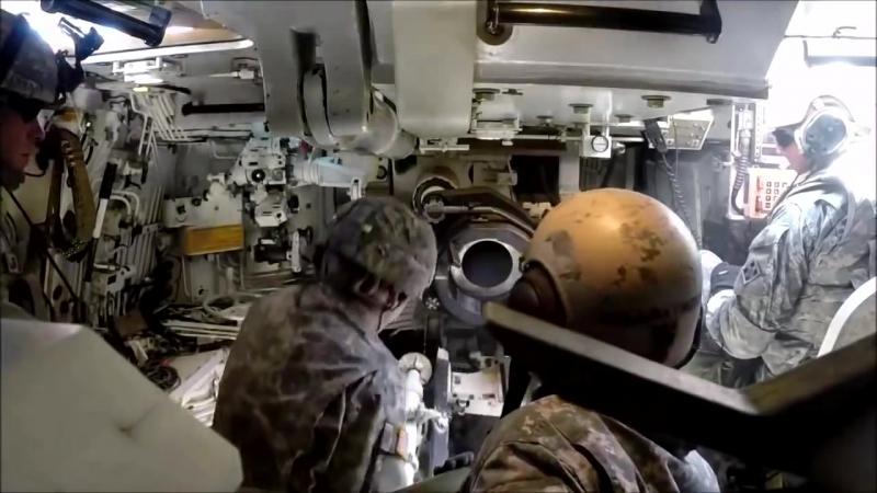 Работа заряжающих M109A6 «Paladin» vs САУ «Мста С»