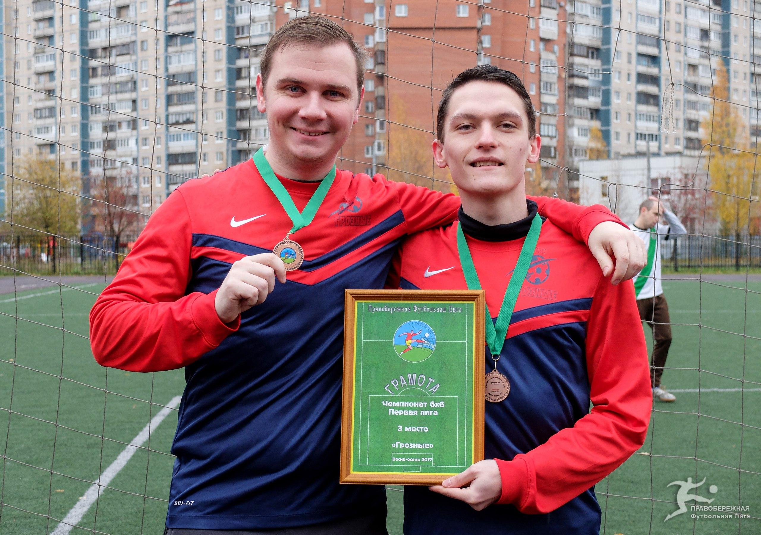 "Иван Салкуцан и Тимур Галиуллин (""Грозные"") - 3-е место в Первой лиге 6х6."