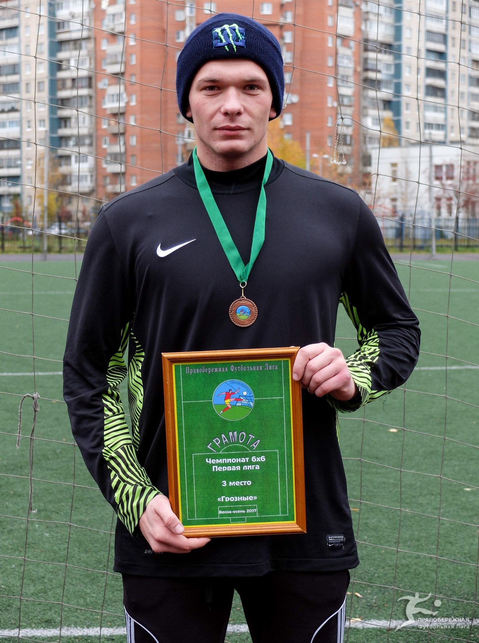 """Анатолий Рагушин (""""Грозные"""") - 3-е место в Первой лиге 6х6."""