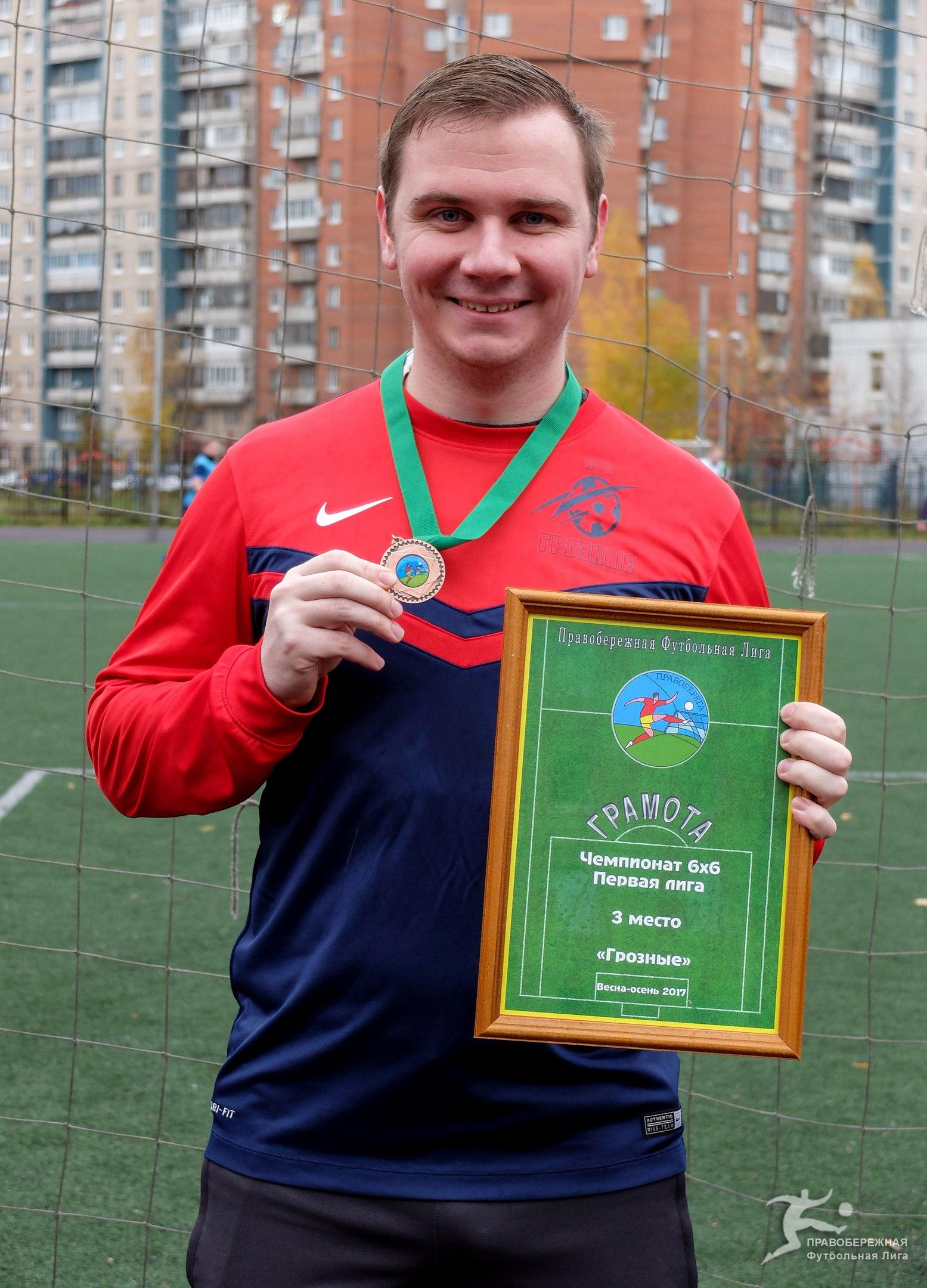 """Иван Салкуцан (""""Грозные"""") - 3-е место в Первой лиге 6х6."""