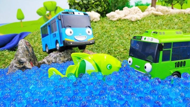 Tolle Spielzeugautos - Tayo und Rogi gehen Angeln - Spielzeugvideo für Kinder