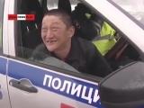 Бухой водитель, из Курганской области, РФ,при аварии полетели обе тапки...