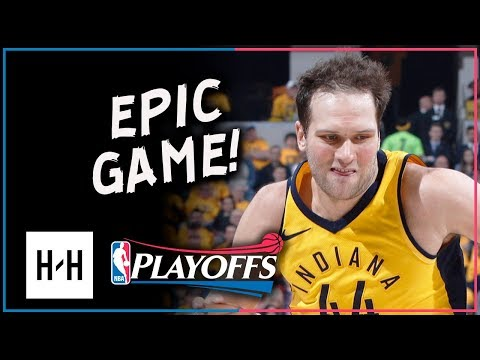 Bojan Bogdanovic Full Game 3 Highlights Pacers vs Cavaliers 2018 Playoffs 30 Points DAGGER