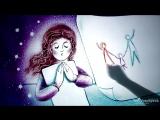 Песочная анимация ко Дню семьи - Детский рисунок (худ. Тори Воробьёва)