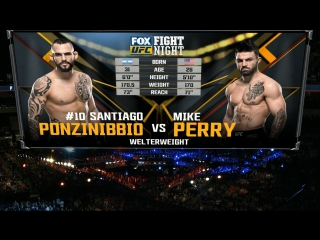 UFC FIGHT NIGHT WINNIPEG Santiago Ponzinibbio vs Mike Perry
