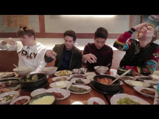 Dylan O'Brien, Ki Hong Lee and Thomas Brodie-Sangster in Josh Carrott's latest YouTube video (Seoul, SK)