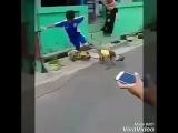 В каком то городе я это видел)