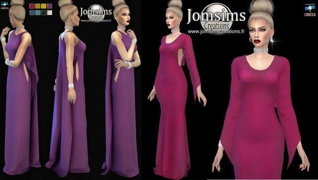 Wazedia dress & Aznassa Dress by Jomsims