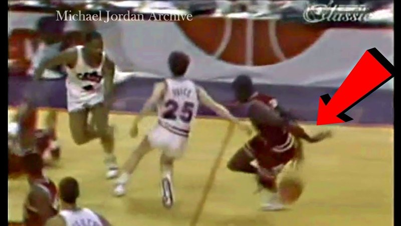 Michael Jordan Invents a Sick Basketball Move: Same Hand Wrap Around Dribble!
