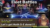 Star Wars Galaxy of Heroes Fleet Battles (Hoth 5-E normal 3)