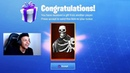EPIC GAMES GIFTS MYTH HIS OWN CUSTOM SKULL TROOPER SKIN! *AWESOME* Fortnite FUNNY SAVAGE Moments