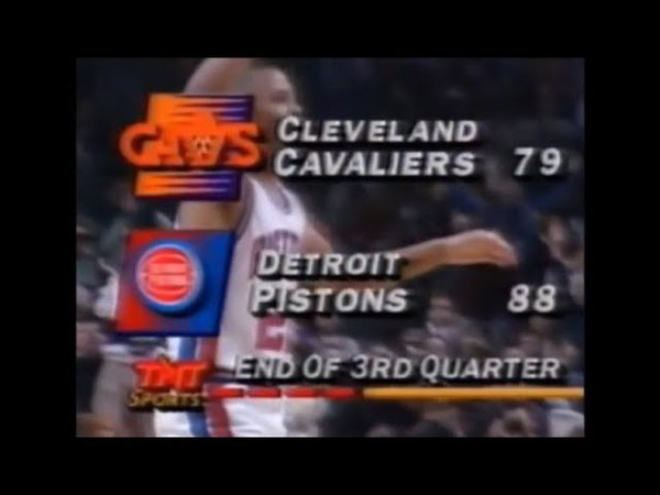 Danny Young Hits a Half-Court Shot for Pistons (NBA on TNT - 1992)