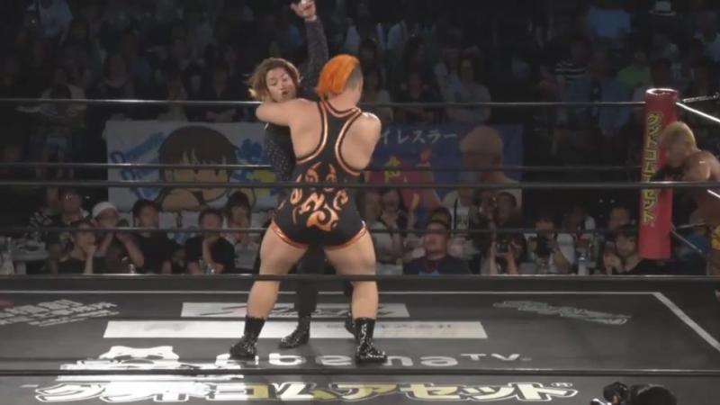 Jason Kincaid Mizuki Watase vs Keisuke Okuda Naomi Yoshimura DDT Fighting Beer Garden 2018 ~ DDT Day
