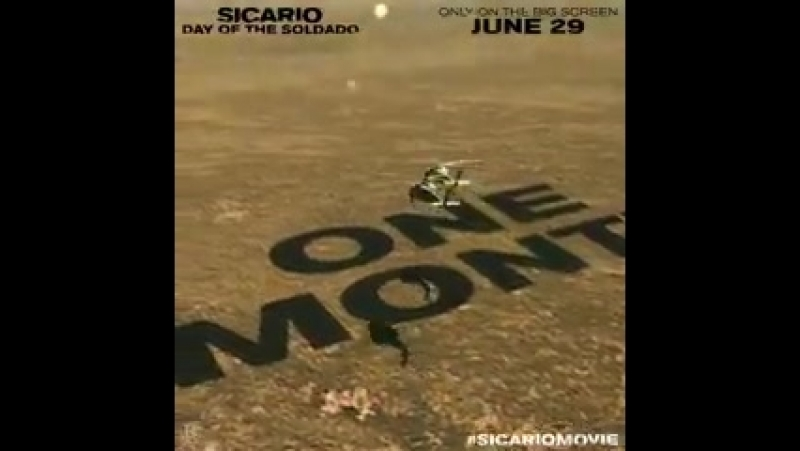 The hunt is on. Sicario Day of the Soldado is one month away. SicarioMovie