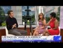 Ли Пейс говорит о спектакле «Ангелы в Америке» в утреннем шоу на ТВ