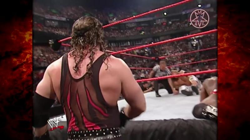Kane ,Edge vs Kurt Angle, Booker T Raw 03.18.2002
