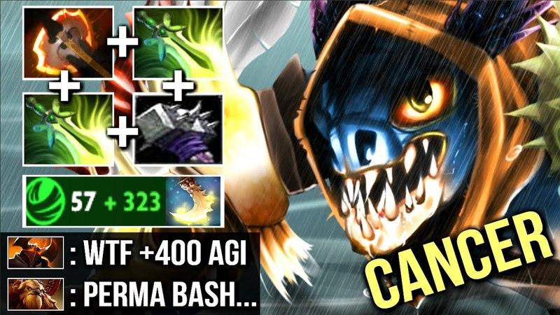 WTF BASH 400 AGI Battle Fury Slark vs Chaos Knight The Most Cancerous Hero 7.13 Dota 2