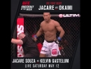 Jacare Souza is deadly on the ground and his feet!