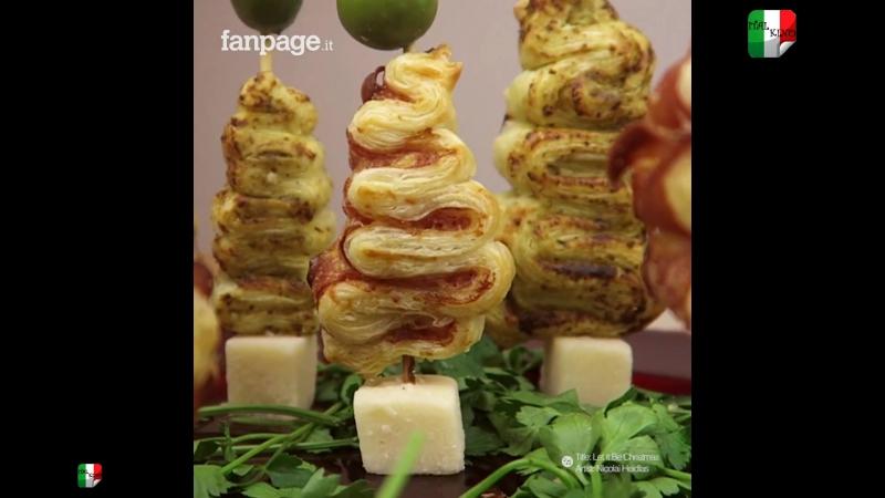 Alberelli di pasta sfoglia: veloci, facili e colorati _ Елочки из слоеного теста: быстро и легко