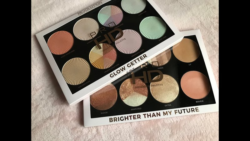 Makeup Revolution Pro HD Highlighter Palette Glow Getter Brighter Than My Future