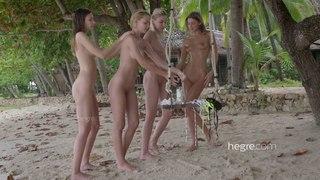 4 Nude Beach Nymphs