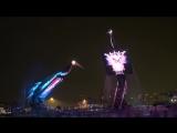 Невероятное шоу танцующих кранов на острове Сентоса в Сингапуре!