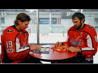 Nicklas Backstrom and Alex Ovechkin FACEOFF in a game of Guess Who
