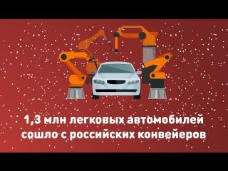 ТОП самых ярких достижений страны за 2017 год  - Выпуск легковых машин в России вырос на 22%