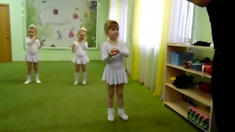 Открытый урок, танец Тучка