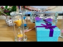 LACALOVE Crystal Hourglass Crystal Sandglass For Office Home Decoration