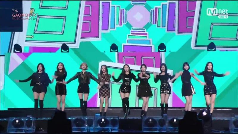 TWICE - KNOCK KNOCK Heart Shaker (7th Gaon Chart Music Awards)