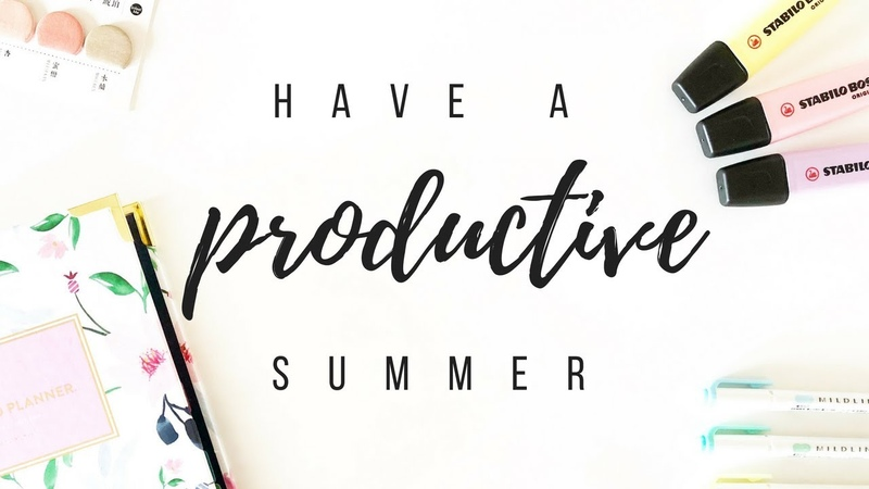 How to have a productive summer - 7 productivity tips | studytee