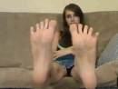 Girl beautiful and long foot, feet & toes