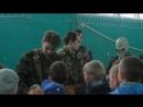 Военно-полевые сборы (2018). Отчёт: дети учатся надевать противогаз.