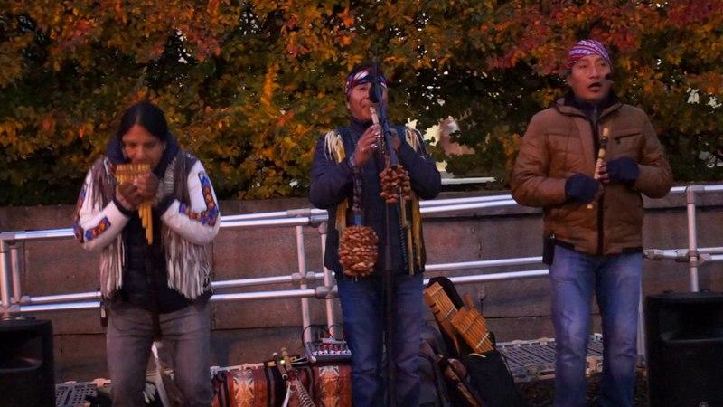 Индейцы поют и играют на флейтах! La vida.