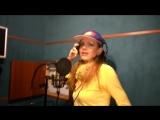 Маша Галактика в студии на записи песни Недотрога
