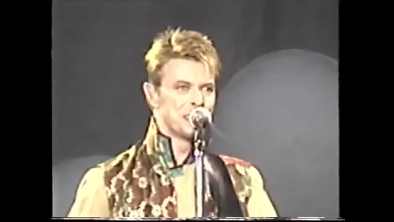 David Bowie performs Quicksand at the Phoenix Festival July 20th 1997.