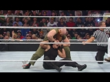 The Shield ( Dean Ambrose, Roman Reigns and Seth Rollins) vs. The Wyatt Family (Bray Wyatt, Erick Rowan Luke Harper) WWE Elimin