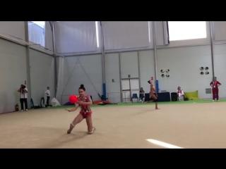 Лала Крамаренко (тренировка) // Чемпионат Европы 2018, Гвадалахара