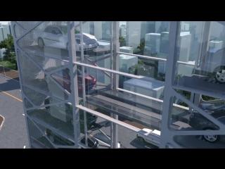 Многоуровневая смарт-парковка китайской фирмы TADA