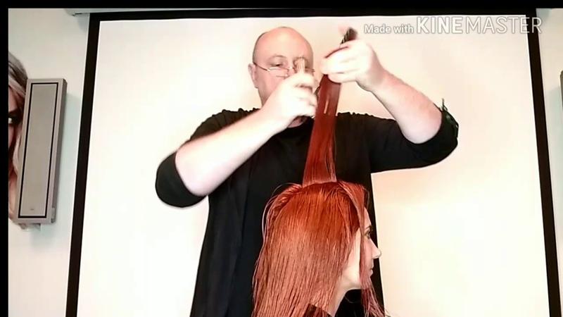 Видеоурок 10 Женская слоистая стрижка