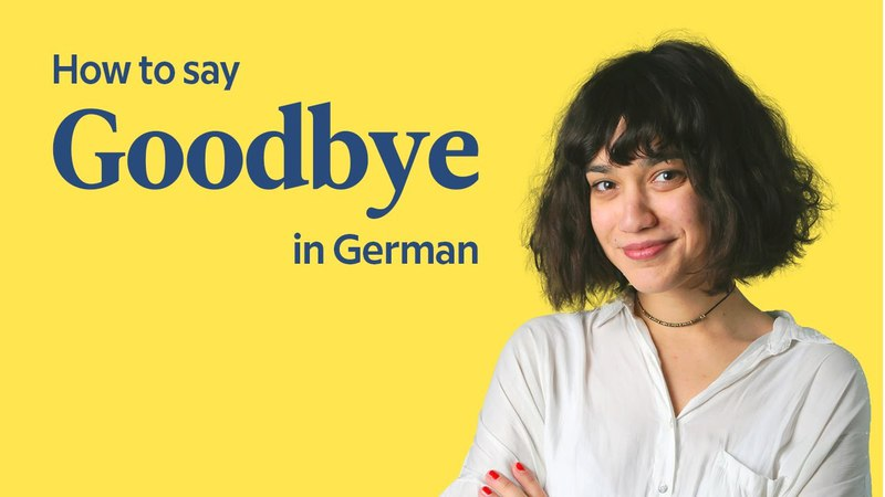 How To Say Goodbye In German | German In 60 Seconds