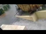 Как в Сочи затопило улицу Навагинскую