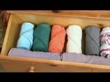 Как правильно складывать полотенца!