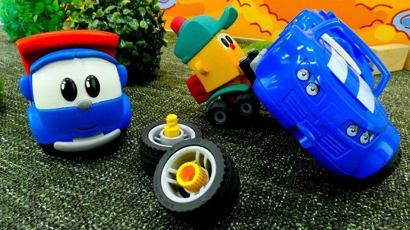 Vidéo de jouets Léo le camion et Lifty. Voiture de course