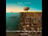 Owl City - Bombshell Blonde (lyrics)