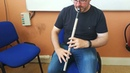 Mikie Smyth playing on his Nightingale Low D whistle