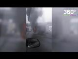 «Газель» загорелась на 24-м километре МКАД
