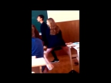 Тверк в школе (14 лет/школьница/цп)