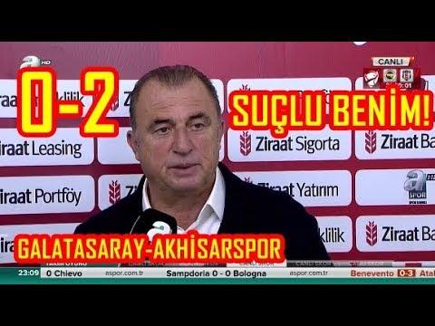 Galatasaray 0-2 Akhisarspor-Fatih Terim Maç Sonu Açıklamaları